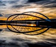 Alba e un ponte II Fotografia Stock