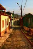 Alba ed il villaggio Fotografia Stock