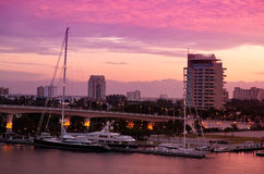 Alba a Fort Lauderdale, Florida Fotografia Stock