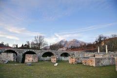 Alba Fucens Aquila Włochy - zdjęcia royalty free