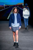 Alba Galocha (model) walks the runway for the Yerse collection at the 080 Barcelona Stock Image