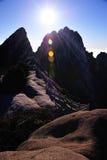 Alba (gialla) della montagna di Huangshan Immagine Stock