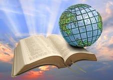 Alba globale della bibbia Fotografia Stock Libera da Diritti