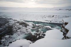 Alba a Gullfoss in Islanda Immagine Stock Libera da Diritti