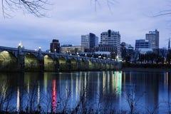 Alba a Harrisburg Fotografie Stock Libere da Diritti