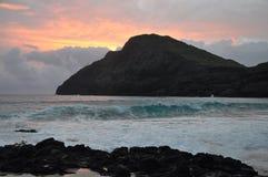Alba in Hawai Fotografie Stock Libere da Diritti