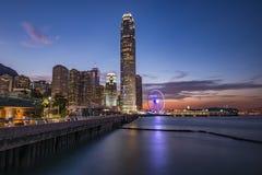 Alba a Hong Kong Immagini Stock