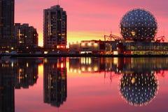 Alba, insenatura falsa, Vancouver Fotografia Stock