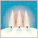 Alba in inverno Fotografia Stock Libera da Diritti