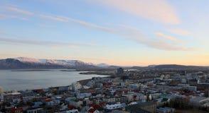 Alba in Islanda Fotografia Stock