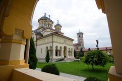 Alba Iulia - catedral de la coronación Fotos de archivo libres de regalías