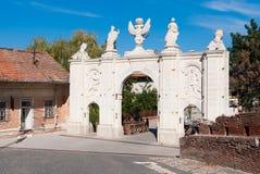 Alba Iulia Fortress Gate stock photography
