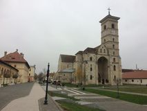 Alba Iulia fortress, An old city in Romania. Church in the middle of the old city stock image