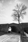 Alba Iulia landmarks. Wall from the first Alba Iulia fortress Stock Images