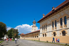 Alba Iulia old town street Royalty Free Stock Photo