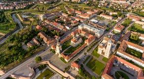 Alba Iulia panorama. Transylvania aerial view stock photos