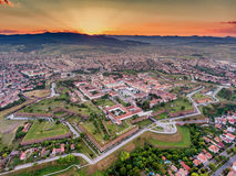 Free Alba Iulia Vauban Style Medieval Walled Fortress Stock Image - 95913911