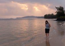 Alba in Kauai fotografia stock libera da diritti