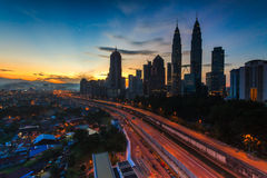 Alba in Kuala Lumpur Fotografia Stock