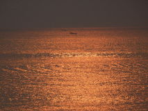 Alba l'Oceano Atlantico Santa Catarina immagini stock