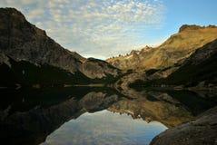 Alba in lago Jakob Fotografia Stock Libera da Diritti