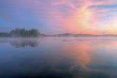 Alba, lago Whitford Fotografie Stock