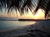 Alba Maldive Fotografia Stock Libera da Diritti