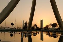 Alba a Manama Fotografia Stock Libera da Diritti