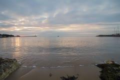 Alba in Mar Nero con il bello cielo Immagini Stock Libere da Diritti