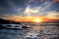 Alba Millendreath Cornovaglia di mattina Fotografia Stock