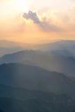 Alba in montagne Immagine Stock