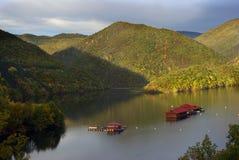 Alba in montagne di Rhodopes fotografia stock libera da diritti