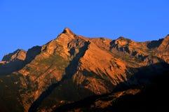 Alba in montagne svizzere Fotografie Stock Libere da Diritti