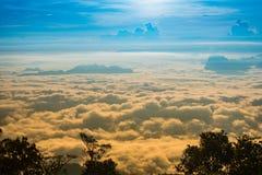 Alba nebbiosa della nebbia di inverno Fotografia Stock