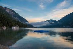 Alba nel bello lago Achensee nel Tirolo, Austria Fotografia Stock Libera da Diritti