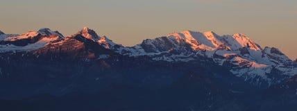 Alba nel Bernese Oberland Immagine Stock Libera da Diritti