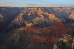 Alba nel grande canyon Fotografia Stock