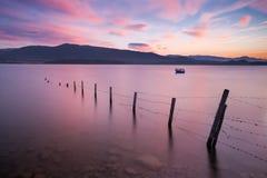 Alba nel lago Fotografie Stock Libere da Diritti