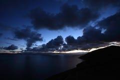 Alba nel lago Namtso Fotografie Stock Libere da Diritti