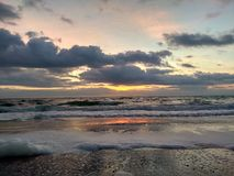Alba nel Mar Nero Immagine Stock
