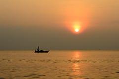 Alba nel mare Fotografie Stock