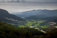 Alba nel parco nazionale del inthanon di Doi Immagini Stock Libere da Diritti