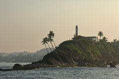 Alba nel porto di Matara nello Sri Lanka fotografie stock libere da diritti