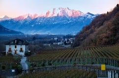 Alba nel Ticino Fotografia Stock