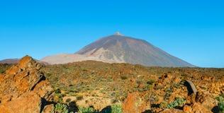 Alba nella caldera del vulcano di EL Teide, Tenerife Immagine Stock
