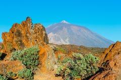Alba nella caldera del vulcano di EL Teide, Tenerife Fotografia Stock