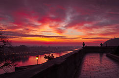 Alba nella capitale, Budapest, Ungheria Fotografia Stock