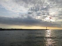 Alba nella città Maryland dell'oceano Immagine Stock Libera da Diritti