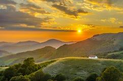 Alba nella montagna Fotografia Stock Libera da Diritti