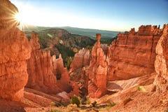 Alba nella sosta nazionale del canyon di Bryce Fotografia Stock
